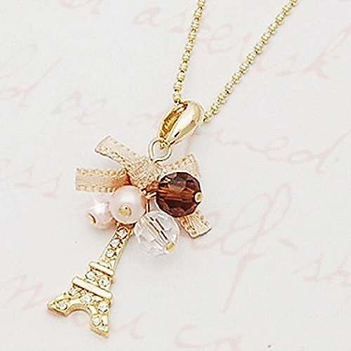 Women's Pendant Necklaces Bowknot Tower Imitation Diamond Alloy - One Item w/Ran