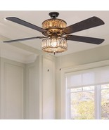 "52"" Silver Dual Layered Geometric Diamond Shaped Ceiling Fan by River of... - $325.00"