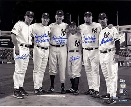 Final Game at Yankee Stadium Perfect Game Battery Mates, Signed Metallic... - $990.00