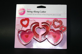 New Wilton Hearts String Along Cookie Cutter Fondant Party Cake Decoration - $8.31 CAD