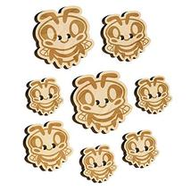 Cute Bee Happy Wood Buttons for Sewing Knitting Crochet DIY Craft - Medium 1.00  - $9.99