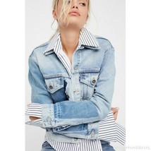 Levi's Made & Crafted Bermuda triangle Boyfriend Patched Trucker Jacket ... - $126.17