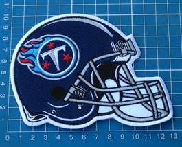 TENNESSEE TITANS FOOTBALL NFL SUPERBOWL HELMET LOGO PATCH EMBROIDERED JE... - $20.00