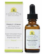 Natural Best Vitamin C E Serum With Ferulic And Hyaluronic Acid 15% Vita... - $38.06