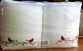 NEW Berkshire Polar fleece Sheet Set White w Embroidered Cardinals Twin - $38.92