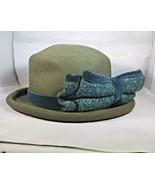 Hat Lady's Olive-Green Felt USA WPL 5923 Label 100% Wool Alpha Spin Vintage - $11.88