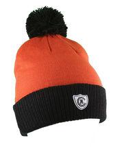 Crooks & Castles Collegiate Orange Black Pom Beanie Winter Hat I1270801 NWT image 3