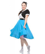 1950s Retro Circle Skirt in Pink Black Red Royal Blue or Turquoise by Hey Viv ! - $38.30 CAD