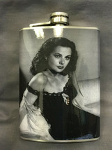 Hedy Lamarr Classic Flask 8oz Stainless Steel Drinking Whiskey Clearance... - $9.90