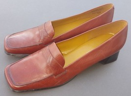 Enzo Angiolini Brown Leather Pumps Work Shoes Marcille Size 9.5 N - $44.65