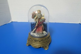 Franklin Mint Sinter Klass Lighted Santa Glass Dome Francis Klein Limite... - $20.00