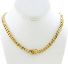 Stainless Steel18K Gold Plated Men Miami Cuban Chain 8mm,10mm,12mm,14mm ... - £11.24 GBP+