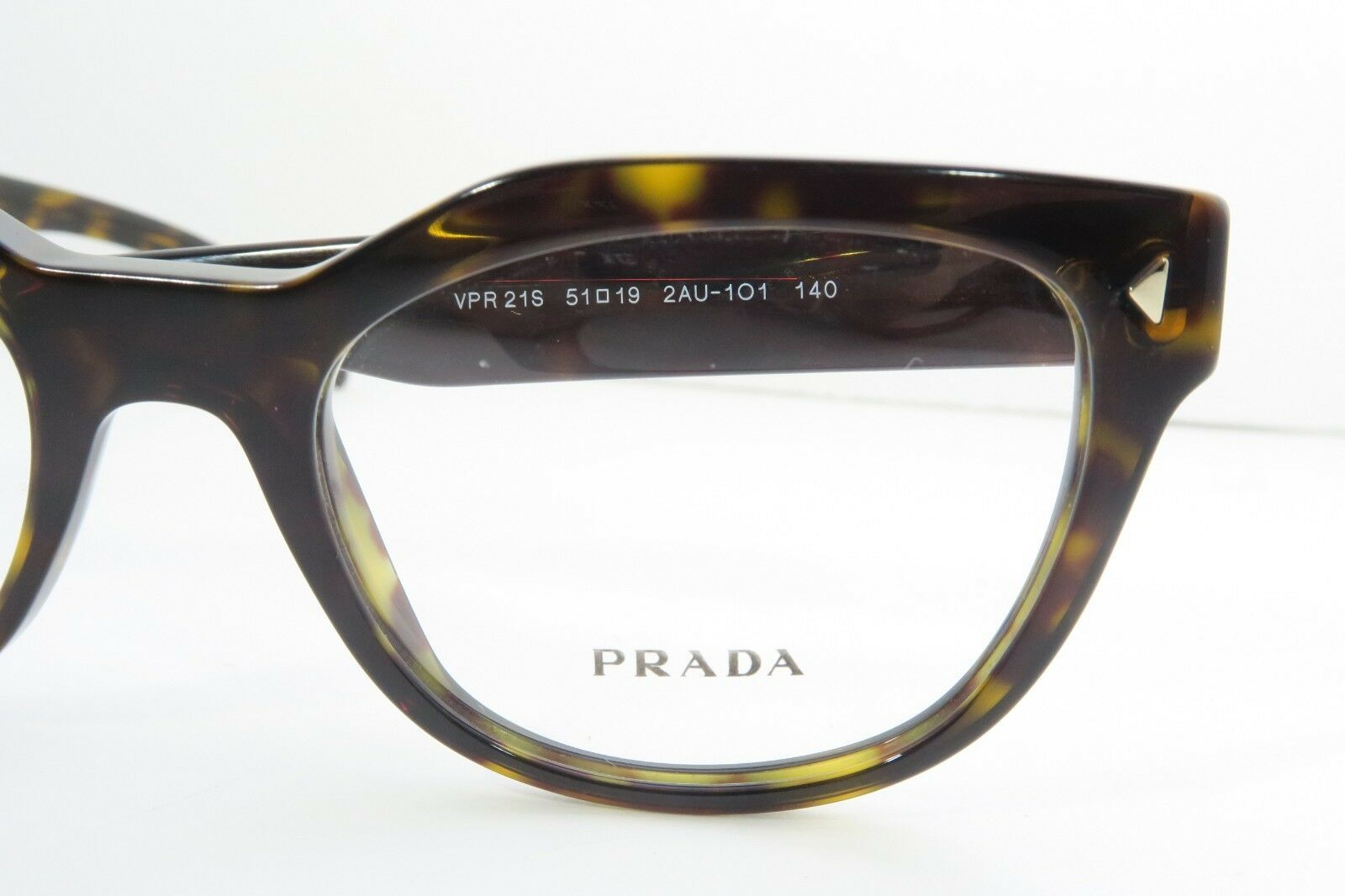 Prada Women's Tortoise Glasses with case VPR 21S 2AU-1O1 51mm