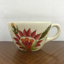 Gibson Everyday Coffee Mug Tea Cup Floral Fantasy White Pink Green Ceramic - $14.99