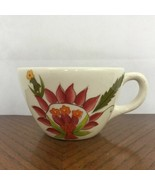 Gibson Everyday Coffee Mug Tea Cup Floral Fantasy White Pink Green Ceramic - $10.04