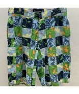 Abercrombie Fitch Mens Shorts Size 28 Patchwork Flat Front Tropical Gato... - $8.00