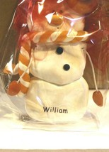 CHRISTMAS ORNAMENTS WHOLESALE- SNOWMAN- 13358-'WILLIAM'-  (6) - NEW -W74 - $5.83