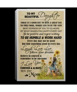 To My Beautiful Daughter I Love You Forever Always CANPO75 Canvas .75in ... - $25.00+