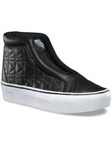Vans Sk8 Hi Laceless Karl Lagerfeld Chain K Quilt Black Fashion Collectors Shoes - $130.89