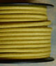 Yellow/Gold Cloth Covered 3-Wire Round Cord, 18ga. Vintage Lamps Antique... - $1.59