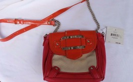 NWT Nine West Coral Pebbled Leather lLike Handbag Swing Pack Adjustable Strap - $15.88