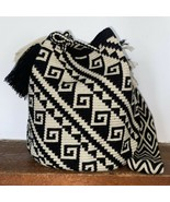 Authentic 100% Wayuu Mochila Colombian Bag Large Size Gorgeous Neutral C... - $76.00