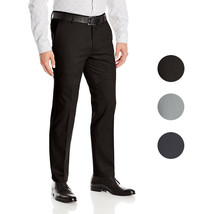 Boltini Italy Men's Flat Front Slim Fit Slacks Trousers Dress Pants