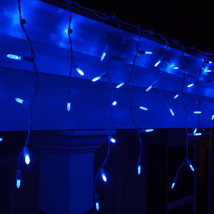 4 pack Blue 70 count LED Icicle Lights White Wire Free Shipping - $98.95