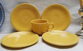 Vintage Fiesta China - Yellow Color - Set Of Four Bread Plates + Teacup - $32.95