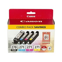 Canon PGI-270/CLI-271 Photo Paper Combo Pack Compatible to MG6820, MG6821, MG682 - $105.99