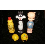 Looney Tunes Soaky Bubble Bath Containers Colgate Imco Tweety Sylvester ... - $26.99