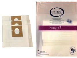 12 Hoover Type S Microlined Vacuum Cleaner Bags Futura Spectrum Windtunn... - $12.82