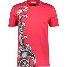 Versace Collection Red Patterned T-Shirt Size Large Bnwt - $102.74