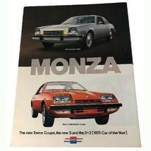 1975 Chevrolet Monza Sales Brochure Buyer's Guide Dealer Car Advertising - $13.86