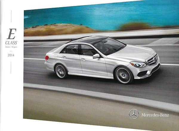 Primary image for 2014 Mercedes-Benz E-CLASS sedan wagon brochure catalog US 350 550 E63 AMG S
