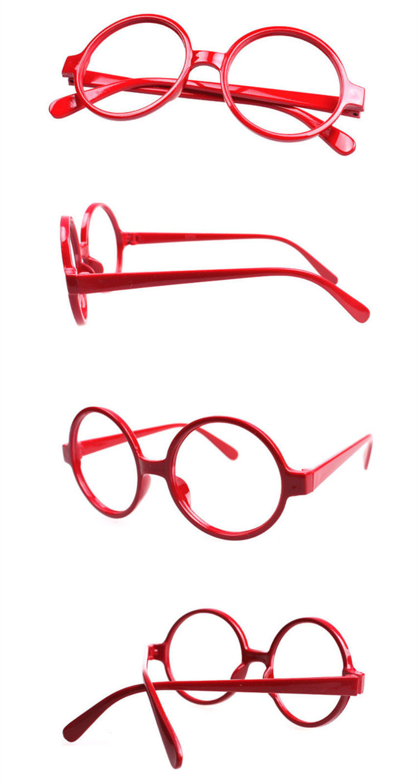 Classic Vintage Round Wizard Costume Nerdy Glasses Frames NO LENS Spectacle Wear image 7