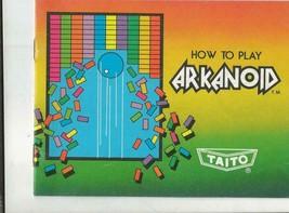 Original Vintage Taito Arkanoid Nintendo Nes Manual - $13.99