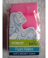 8 Conair Extra Large Foam Rollers Soft Bouncy Curls Hair Curlers Roll Cu... - $10.00