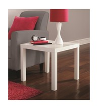 DHP Parsons Modern End Table, Multi-use and Toolless Assembly, White - $23.06