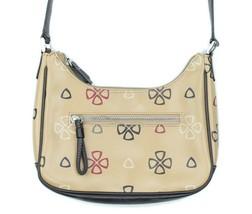 Liz Claiborne Womens Tan Logo Print Mini Shoulder Bag Purse Pocketbook - $18.35