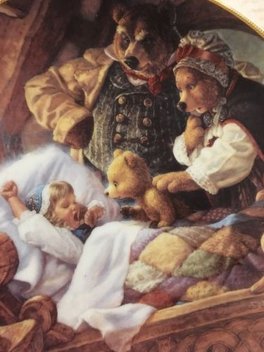 Goldilocks and the Three Bears Knowles Co Collectors Plate 1991 Scott Gustafson