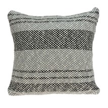 Parkland Collection Bella Transitional Grey Pillow Cover With Poly Insert - $47.04