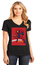 Avengers Goliath & The Wasp District Made Ladies V-Neck T-Shirt Size XS To 4XL - $19.99+