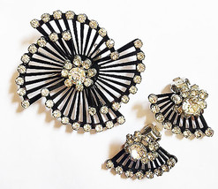 Coro 1950's Vintage Pin with Matching Earrings  - $30.00