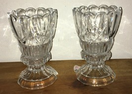 Shannon Crystal Pair of Heart Hurricanes 24% Lead Crystal Brand New in Box - $39.99