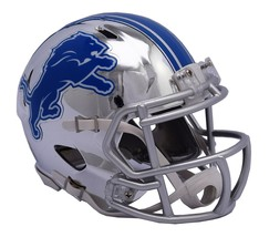 Detroit Lions Helmet Riddell Replica Mini Speed Style Chrome Alternate**Free Shi - $29.99