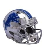 Detroit Lions Helmet Riddell Replica Mini Speed Style Chrome Alternate**... - $29.99