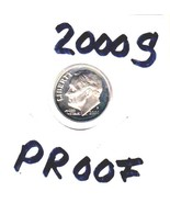 FREE SHIP  2000-S   ROOSEVELT DIME  PROOF  CONDITION..FREE SHIPPING - £1.11 GBP