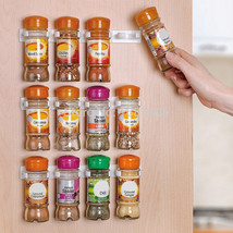 Spice Rack Spice Wall Storage Plastic Kitchen Organizer Rack 12 Cabinet ... - $18.07 CAD