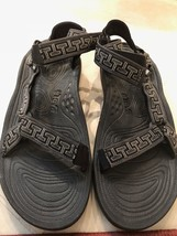 Pre-owned TEVAS Mens Black Strap Shock Pad Hiking Sandals SZ 13 - $41.41 CAD